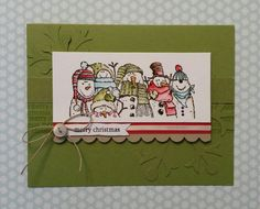 Christmas in July!  Stamp:  Stampin'up Holiday Lineup.  CASE from Stampinup Holiday Mini Catalog 2011