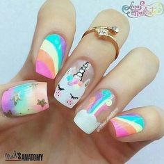 nails for kids cute short - nails for kids . nails for kids cute . nails for kids easy . nails for kids cute short . nails for kids cute and easy . nails for kids acrylic . nails for kids gel . nails for kids cute unicorn Trendy Nail Art, Cute Nail Art, Cute Nails, Kawaii Nail Art, Unicorn Nails Designs, Unicorn Nail Art, Butterfly Nail Designs, Mermaid Nail Art, Butterfly Nail Art