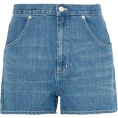 Madewell Westside denim shorts found on Polyvore featuring shorts, bottoms, blue, short jean shorts, madewell shorts, madewell, zipper pocket shorts and denim shorts