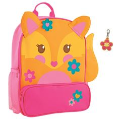 Stephen Joseph Sidekick Fox Backpack and Flower Zipper Pull - Backpacks for Girls * You can find out more details at the link of the image.