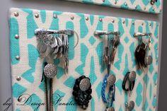 diy Design Fanatic: How To Make A Fabulous Jewelry Organizer