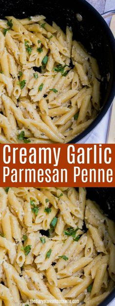 Easy dinner idea your entire family will love, Garlic Parmesan Penne. Easy dinner idea your entire family will love, Garlic Parmesan Penne. Easy Penne Pasta Recipes, Pasta Dinner Recipes, Pasta Dinners, Healthy Pasta Recipes, Vegetarian Recipes, Cooking Recipes, Pasta Side Dishes, Pasta Sides, Side Dishes Easy