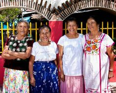 The Aguilar sisters, left to right, Guillermina, Irene, Concepción and Josefina, uncredited photographer.