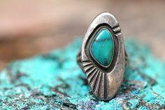 Navajo, Ring, Turquoise, Boho Rings,  Sterling Silver, Gypsy, Vintage Jewelry, Hippie