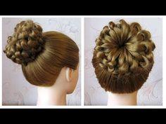 Easy hairstyle for long/medium hair 🌺 Braided bun hair tutorial 🌺 Knot braid Medium Hair Braids, Medium Long Hair, Medium Hair Styles, Long Hair Styles, Braided Bun Hairstyles, Easy Hairstyles For Medium Hair, Hairstyle Braid, Hairstyle Ideas, Bun Tutorials