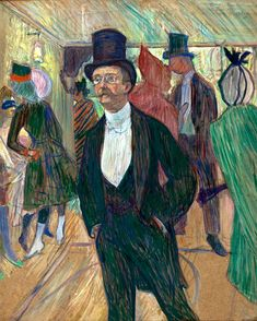 Henri de Toulouse-Lautrec (French, 1864-1901), Monsieur Fourcade, 1889. Pastel on cardboard, 77 x 62 cm.