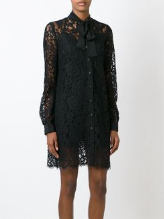 Dolce & Gabbana Кружевное Платье-рубашка - Spinnaker 141 - Farfetch.com