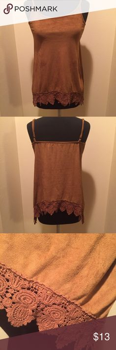 MAURICES TANK TOP Maurices tank top, adjustable straps.  Nice crochet detail on bottom!  Size XS.  Good condition Maurices Tops Tank Tops