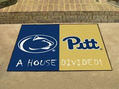"Penn State / Pittsburgh House Divided Rug 33.75""x42.5"""