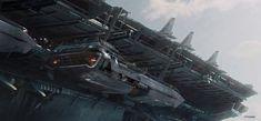 concept ships: Concept art from Atomhawk Design Ltd.