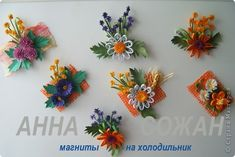 Quilling - Magnety léto Quilling Dolls, Quilling Flowers, Quilling Cards, Paper Quilling, Paper Flowers, Craft Museum, Diy And Crafts, Paper Crafts, Quilling Designs