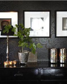 Black wall: Interiors photographed by Karin Björkquist