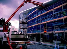 Twitter / BHASnappy:#EXTRASEATS concrete being pumped into the upper level floor of the South Stand #BHAFC