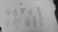 Eten > ijs (schetsen)