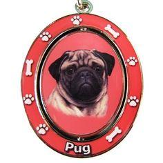 Fawn Pug Spinning Keychain