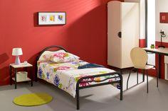 Chambre simple gamme yun lit bureau rangement #lit #chambre