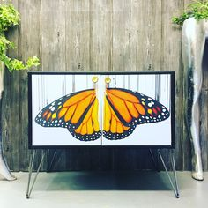 Using the amazing artwork of Louise McNaught on this vintage gplan cabinet