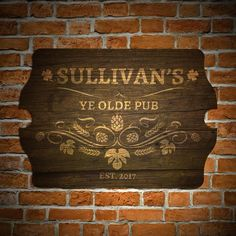 Transform your home bar or man cave into a traditional Irish Pub with our Ye Olde Pub bar sign. Embellished with a barley, hop, and shamrock detail, welcome all for fun and pints at your Ye Olde Pub...
