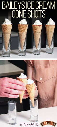 Nothing says it's time to indulge quite like shots in an ice cream cone. Get our deliciously indulgent recipe for Baileys Ice Cream Cone Shots now!