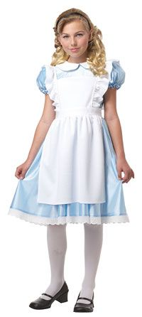 This is the most accurate to the dress that Alice is known for and everyone would be able to identify her easily.