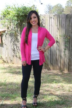 This 100% rayon fabric is super soft and lightweight!  We are in love with the extra long sleeves and slouchy front pockets!  This is a must have for spring! www.swankystarfish.com  Choose from three amazing colors: our bright lime margarita, vivid hot pink, and the can't go wrong charcoal!