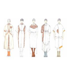 Fashion Sketchbook - fashion design drawings; unisex tailoring line up; fashion illustrations; fashion portfolio // vlaporta