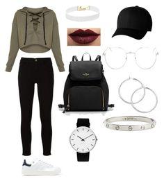 """My style"" by rominacurnobnina on Polyvore featuring Frame, adidas Originals, LASplash, Vanessa Mooney, Flexfit, Topshop, Rosendahl and Cartier"