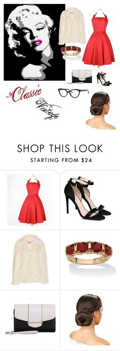 """""""Classic hollywood"""" by krystinamarie132001 ❤ liked on Polyvore featuring beauty, STELLA McCARTNEY, Palm Beach Jewelry, Kardashian Kollection, Kate Spade and vintage"""