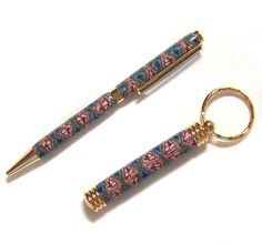 Pen and Key Ring Set Polymer Clay Design by Charm 4 Polymer Clay Pens, Clay Design, Key Rings, Charmed, Canes, Ebay, Nice, Projects, Bonito