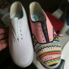 The shoes I painted