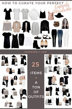 Build A Capsule Wardrobe - Curate Your Capsule Wardrobe 2017 - Capsule Wardrobe Minimalist Women - Work - Workbook - Free Printables- Free EBook - Minimalism Organization Declutter | www.beautyiscrueltyfree.com