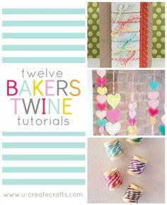 12 Amazing Bakers Twine Tutorials #diy #tutorials #bakerstwine