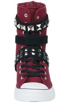 EMP Black Premium #Zapatillas #Botas #rojo #Studs #rockStyle 100% - Exclusivo EMP EMP Online España • Tienda Rock, Heavy Metal, Gótica y Alternativa > Catálogo Online emp.me/6mn
