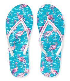 Aeropostale Women's Flamingo Flip-Flop 9 Bleach