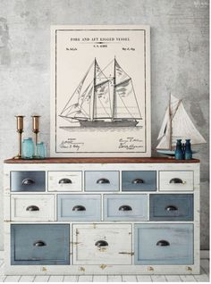12 Free Nautical Wall Art Printables/Vintage Patent Art – The Navage Patch 12 kostenlose nautische Wandkunst Ausdrucke / Vintage Patent Art – The Navage Patch Nautical Wall Decor, Nautical Home, Coastal Decor, Vintage Nautical Decor, Nautical Interior, Nautical Bedroom Themes, Diy Nautical Furniture, Nautical Quotes, Nautical Gifts