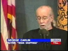 George Carlin: 'Politicians don't actually say things, they INDICATE them', National Press Club - 1999  — Speakola