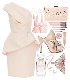 """""""Dinner Party"""" by sunnydays4everkh ❤ liked on Polyvore featuring N°21, Monique Lhuillier, Ex Nihilo, BCBGMAXAZRIA and tarte"""