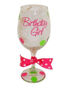 Birthday Girl Personalized Wine Glass  Great by GirlCandyShop