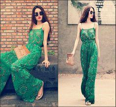 2013 European Style Fashion High Quality Jumpsuit Women's Vintage Overalls Bodysuit Plus Size ...