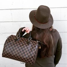 b3ecd1702e5 Hats off to Louis Vuitton!! Louis Vuitton Ebene Damier Speedy 30 just in!