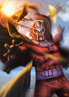 X-Men: Magneto - Created by Ed Anderson Ms Marvel, Marvel Comics Art, Marvel Comic Books, Marvel Heroes, Comic Books Art, Comic Art, Book Art, Cosmic Comics, Marvel Comic Character