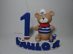 Topo de bolo ursinho marinheiro cód: 3159