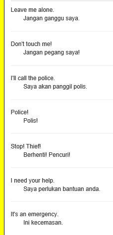 Emergencies | Melayu
