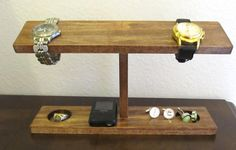89eaafe59f6 Men Watch Holder- Men Watch Stand - Watch Display with ring and cufflink  holder