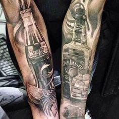 Coke and jack Daniels tattoos