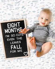 Eight Month Letterboard & Baby Update (  Favorite Fall Puns) - DIY Darlin'