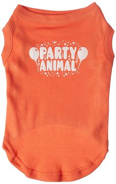 Mirage cat Products Party Animal Screen Print Shirt Orange Lg (14) ** Awesome cat product. Click the image : Cat Apparel