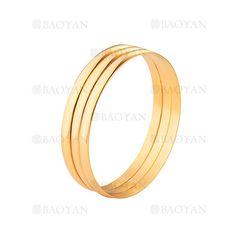 3 aro de pulsera moda dorado acero inoxidable para mujer -SSBTG924372