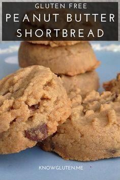 gluten free peanut butter shortbread cookies from knowgluten.me - gluten free, dairy free, grain free