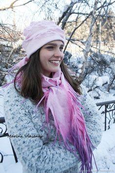 Комплект валяный Розовая розочка – купить в интернет-магазине на Ярмарке Мастеров с доставкой